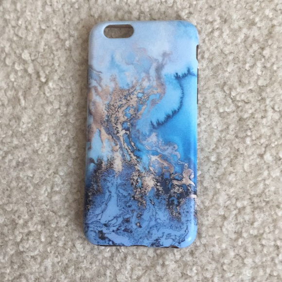 huge discount 695b7 142e4 Blue and gold marble phone case IPHONE 6